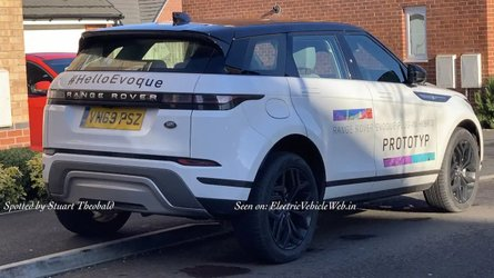 Land Rover Evoque PHEV spied advertising upcoming powertrain