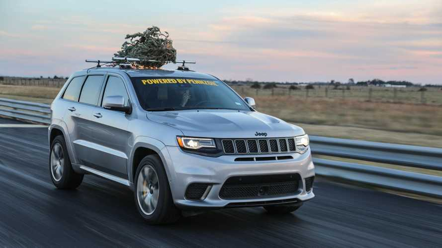 Deck The Halls At 181 MPH In This Hennessey-Tuned Jeep