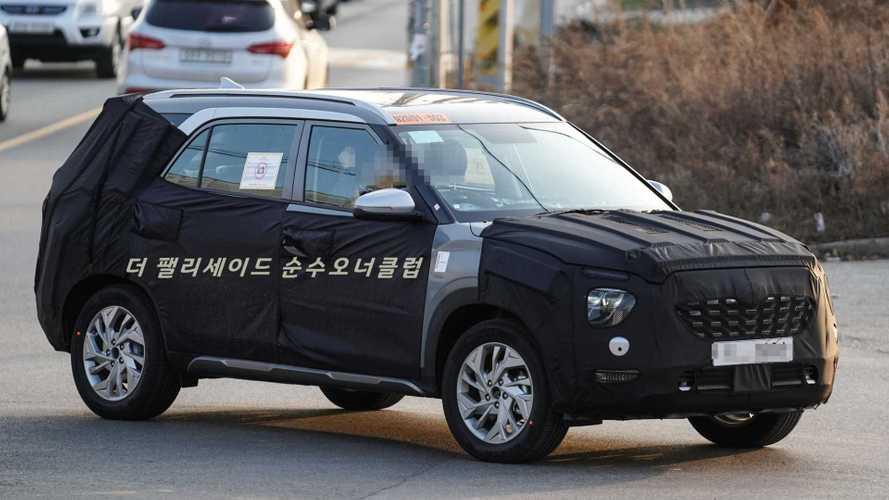 Flagra: Novo Hyundai Creta de 7 lugares aparece em testes pela 1ª vez