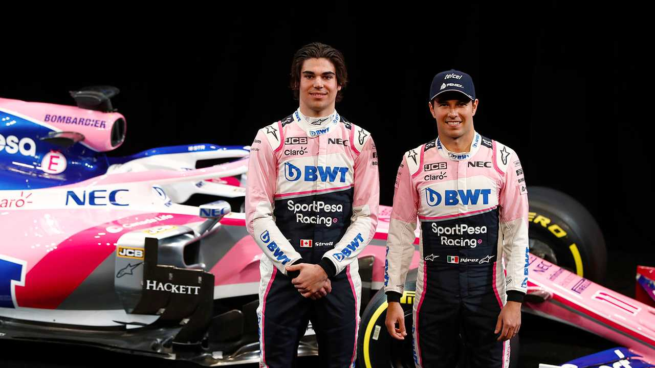Lance Stroll, Racing Point F1 Team and Sergio Perez, Racing Point F1 Team with the Racing Point F1 Team RP19