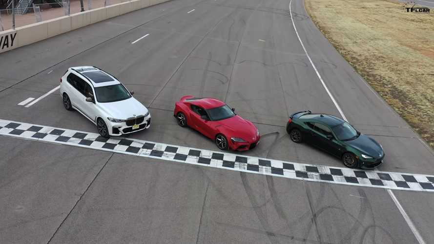 Toyota Supra And 86 Compared On Race Track To... BMW X7?