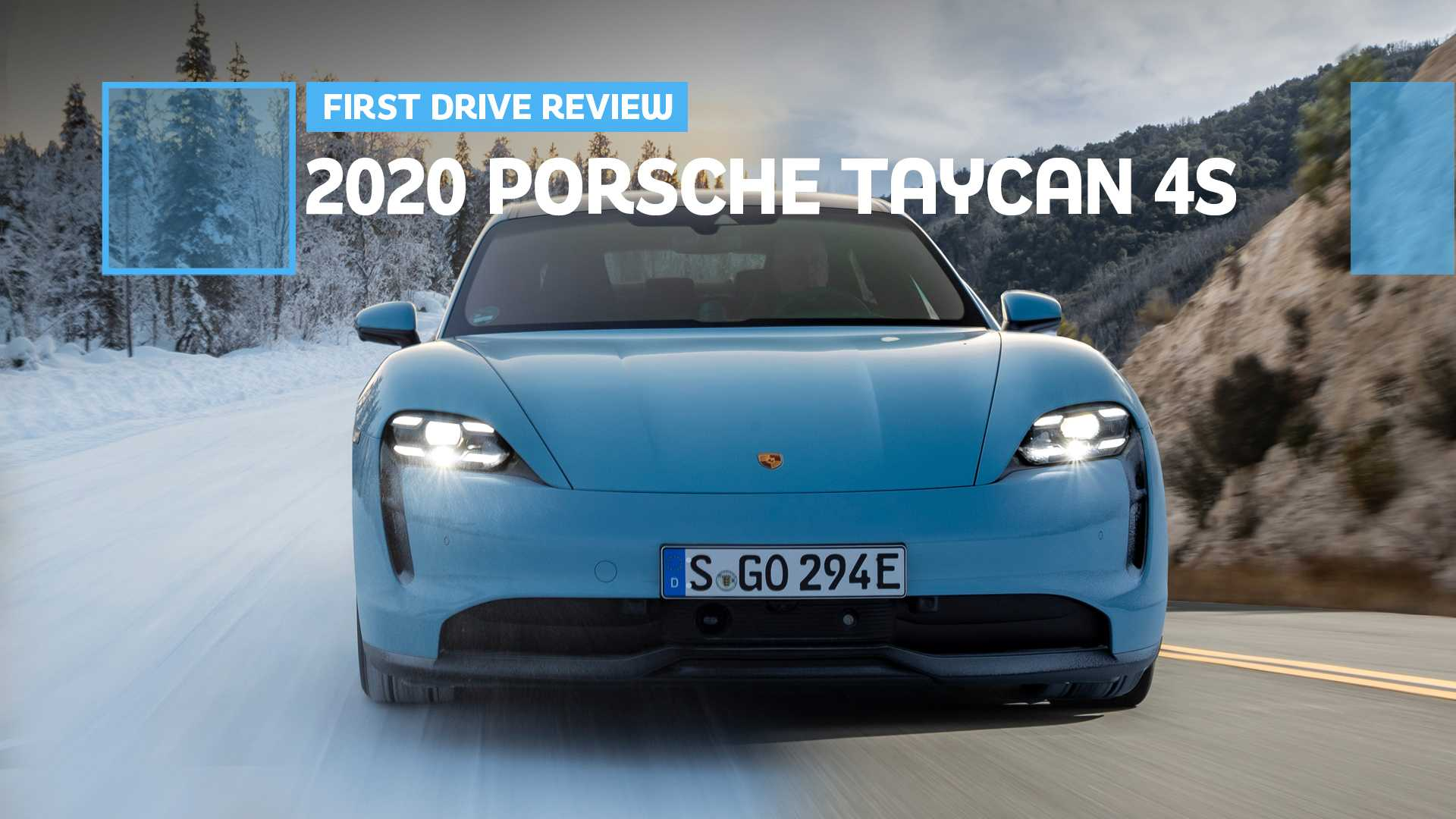 2020 Porsche Taycan 4s First Drive Canyon Carver Winter Warrior