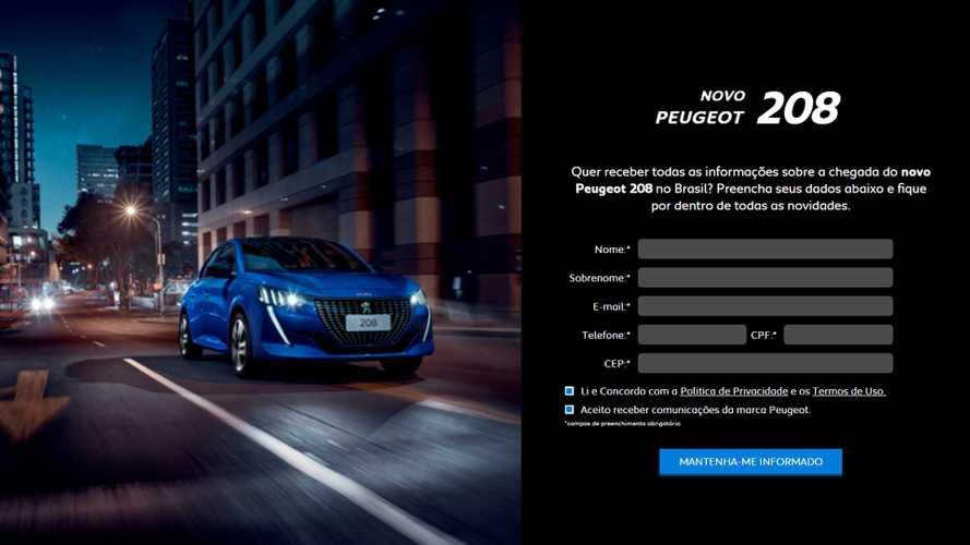 Confirmado para 2020, novo Peugeot 208 já tem hotsite no Brasil