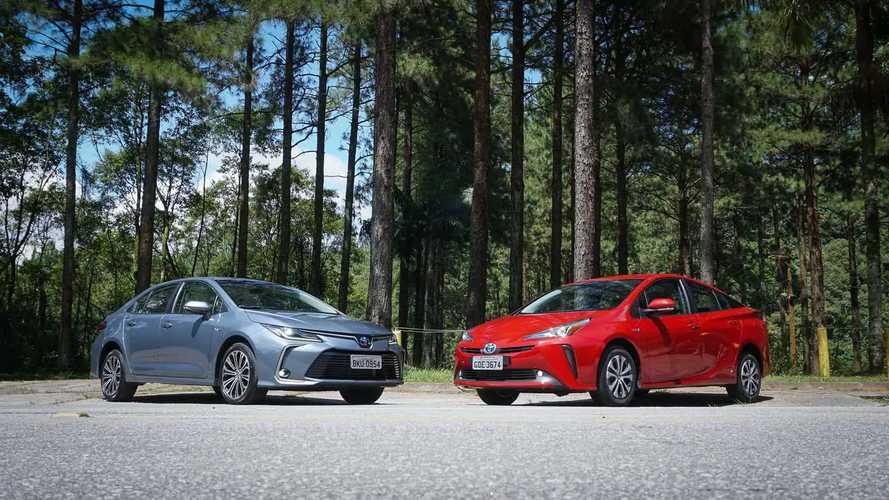 Comparativo: Toyota Corola Hybrid vs. Prius