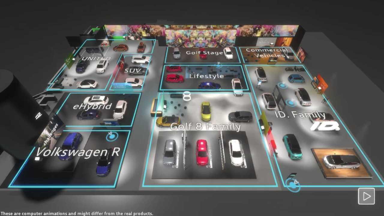 VW construye un stand virtual en el Salón del Automóvil de Ginebra que puede explorar 75