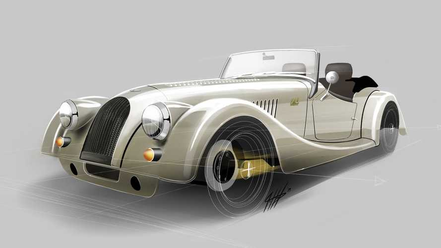 Morgan Plus 4 70th Anniversary Edition Glitters With Gold Frame
