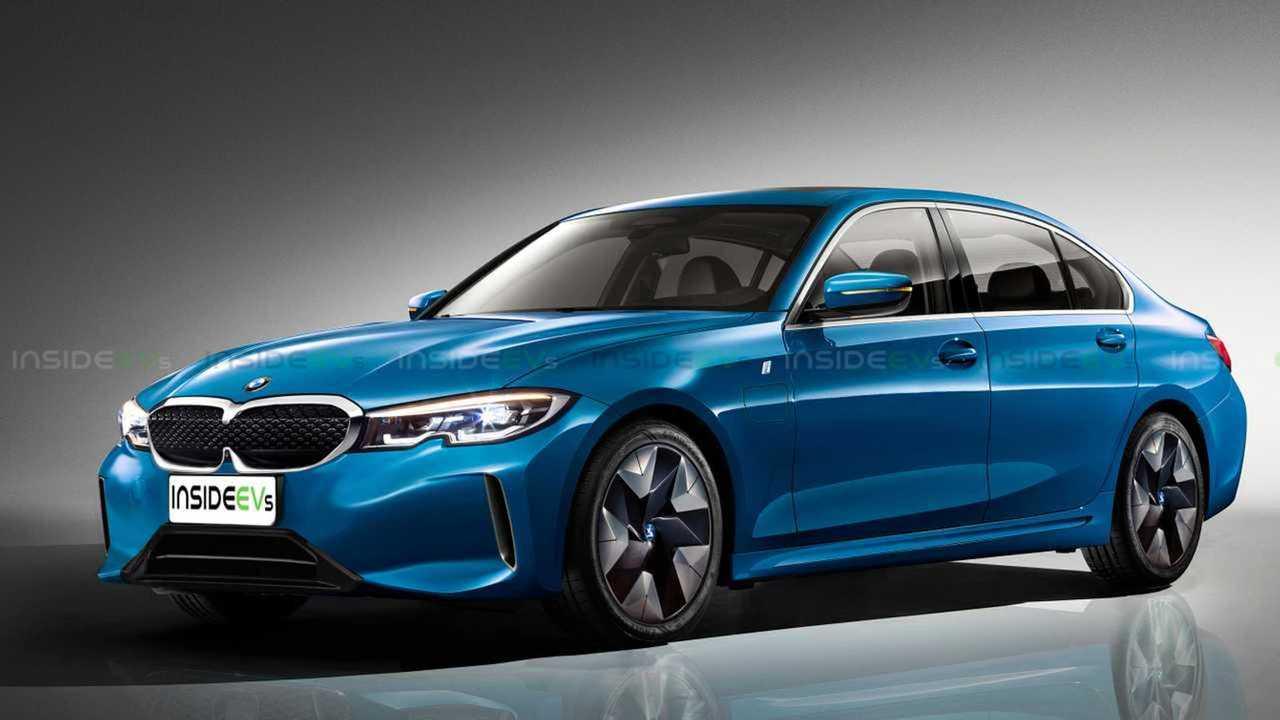 BMW Serie 3 eléctrico, render de InsideEVs