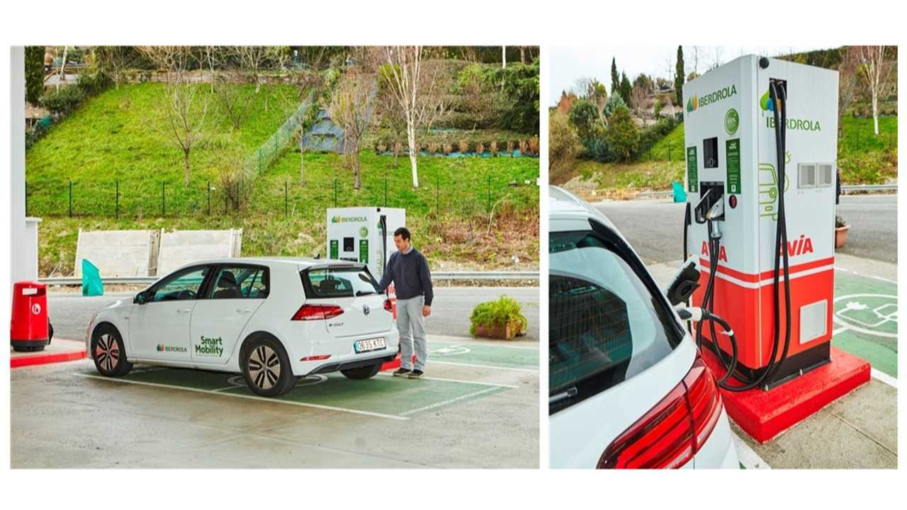 Iberdrola and AVIA fast charging station