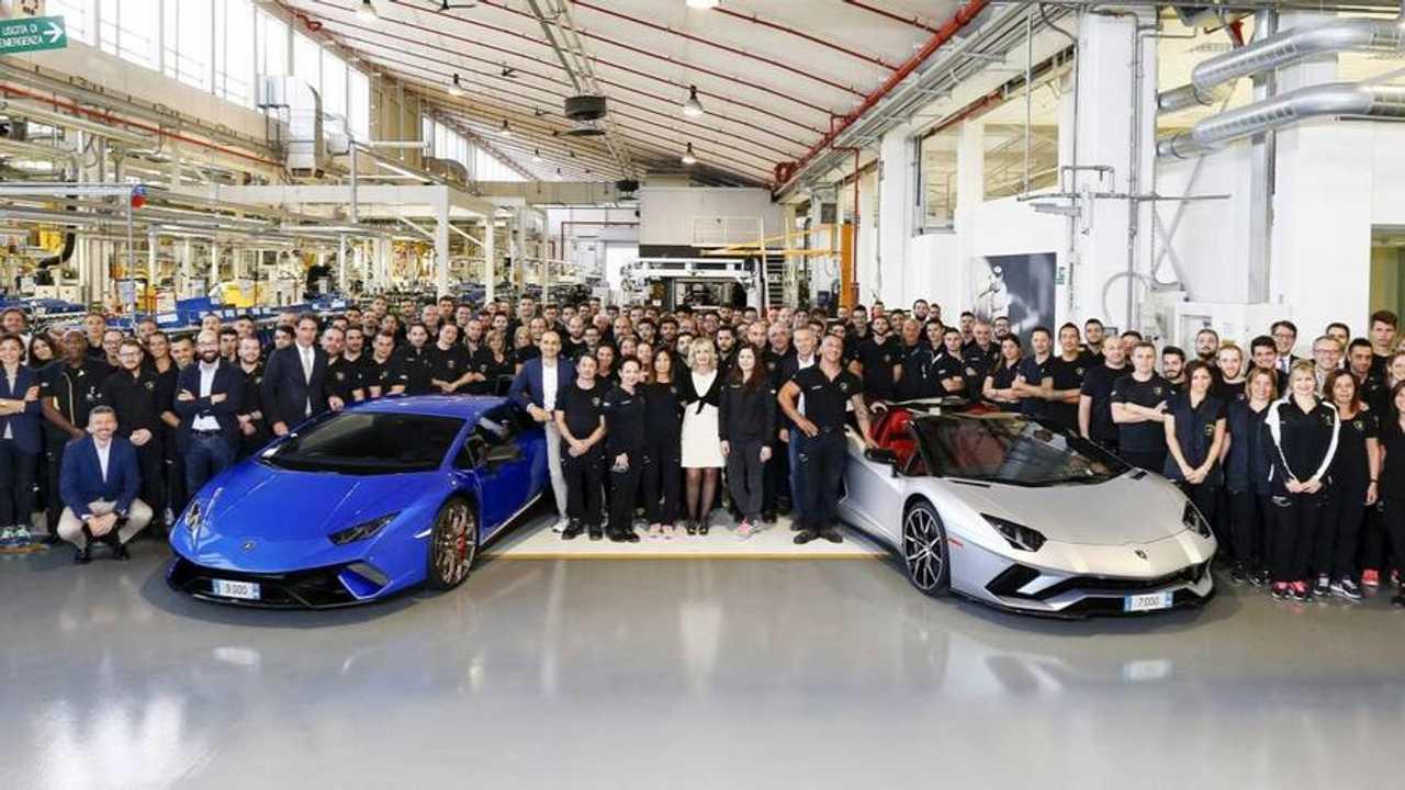 Elkészült a 7000. Lamborghini