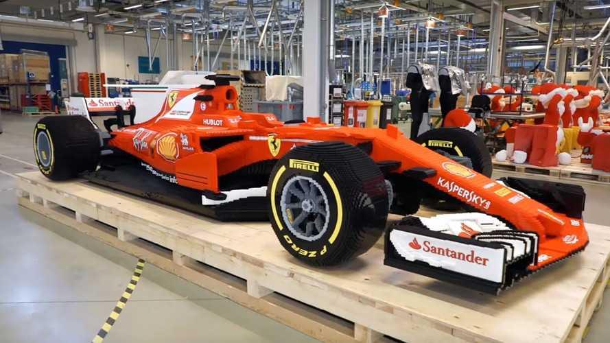 VIDÉO - Une Ferrari SF70H de F1 en Lego et en taille réelle !