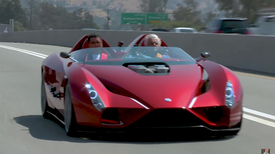 Jay Leno Drives Kode57 Roadster With Ferrari Enzo Designer