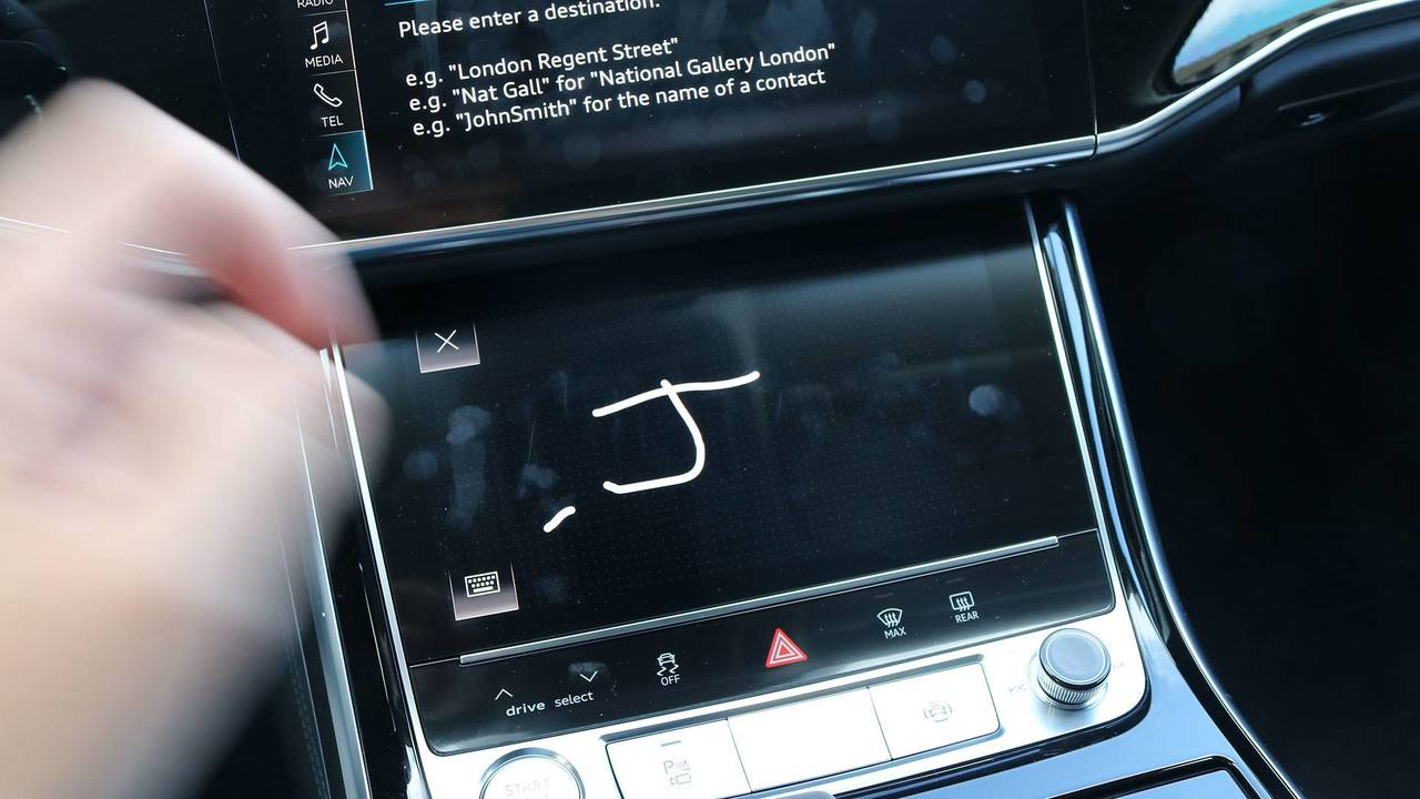 2019 Audi A8 handwriting recognition
