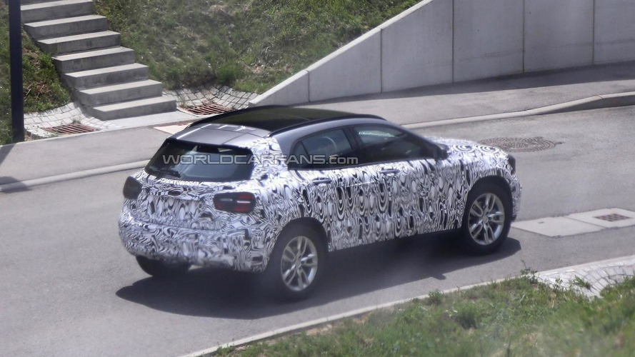 2014 Mercedes-Benz GLA loses some of its camo in latest spy shots