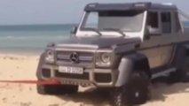 Mercedes-Benz G63 AMG 6x6 towed
