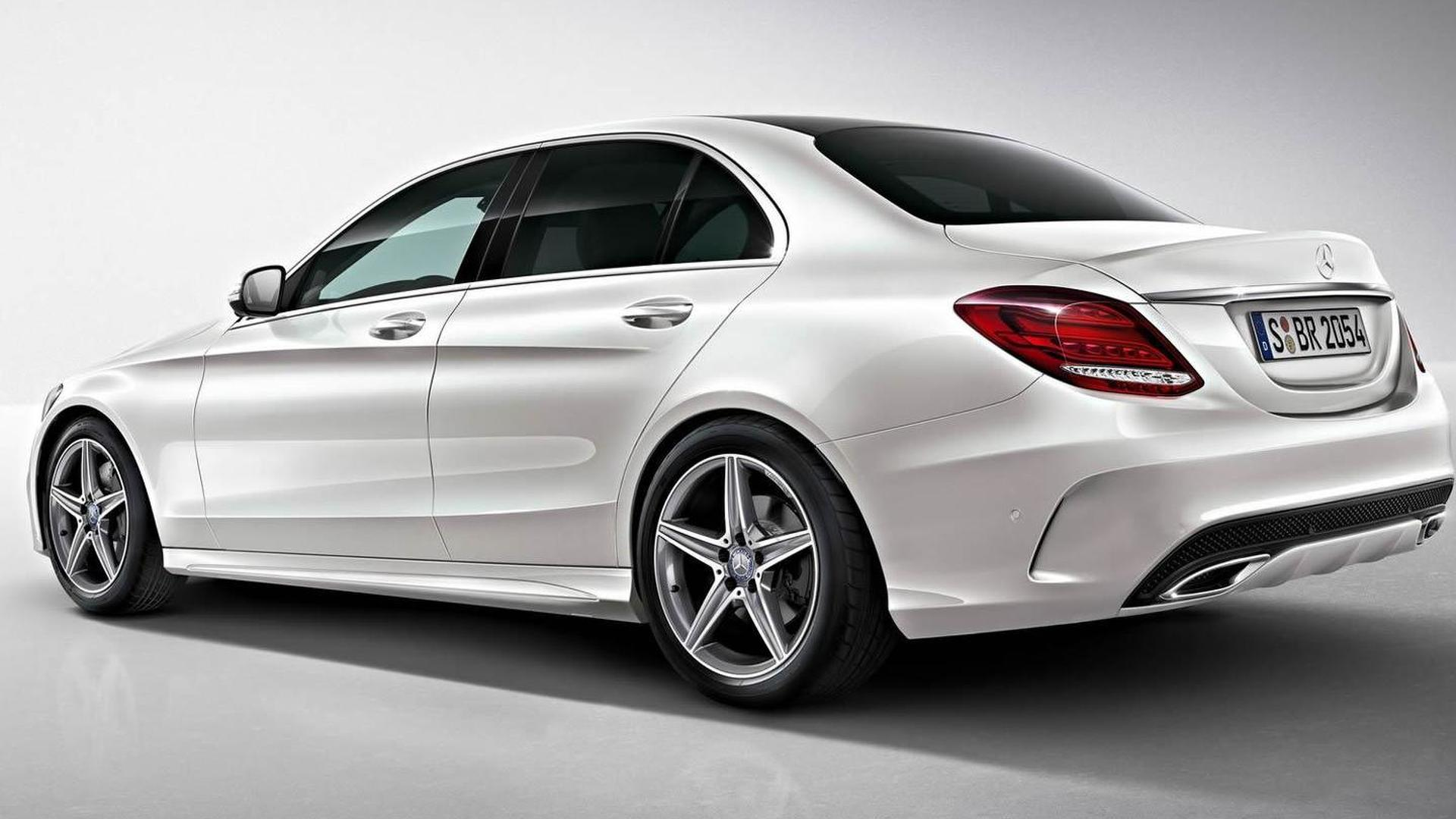 591ca0207b83 2014 Mercedes-Benz C-Class AMG Line photos and details released