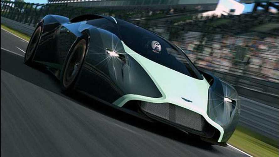 Aston Martin DP-100 Vision Gran Turismo, virtualmente a Goodwood