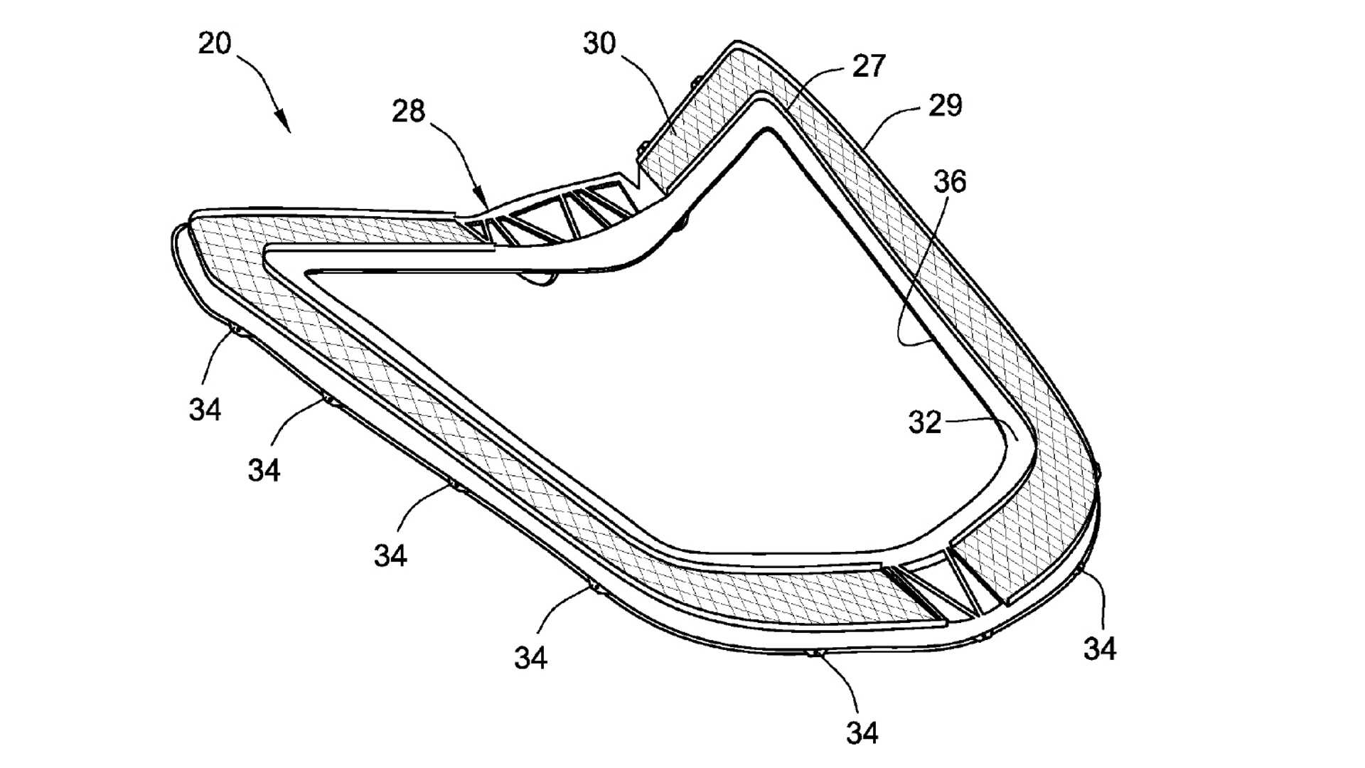 mid engined corvette hatch cover exposed in patent application 2004 Chevy Colorado Headlights