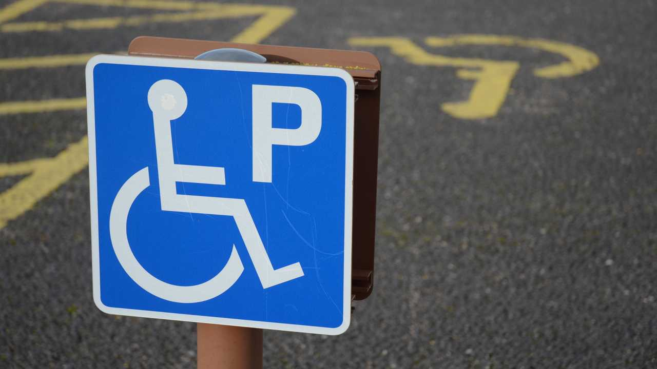 Parking space for disabled drivers in Culloden Scotland