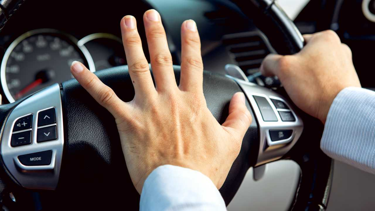 Driver honking horn