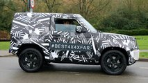 Land Rover Defender 90 spy photo