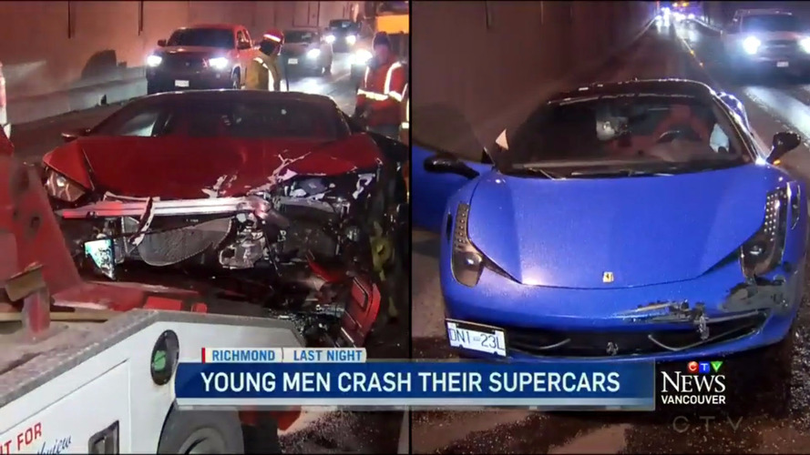 Novice drivers crash supercars in Canada
