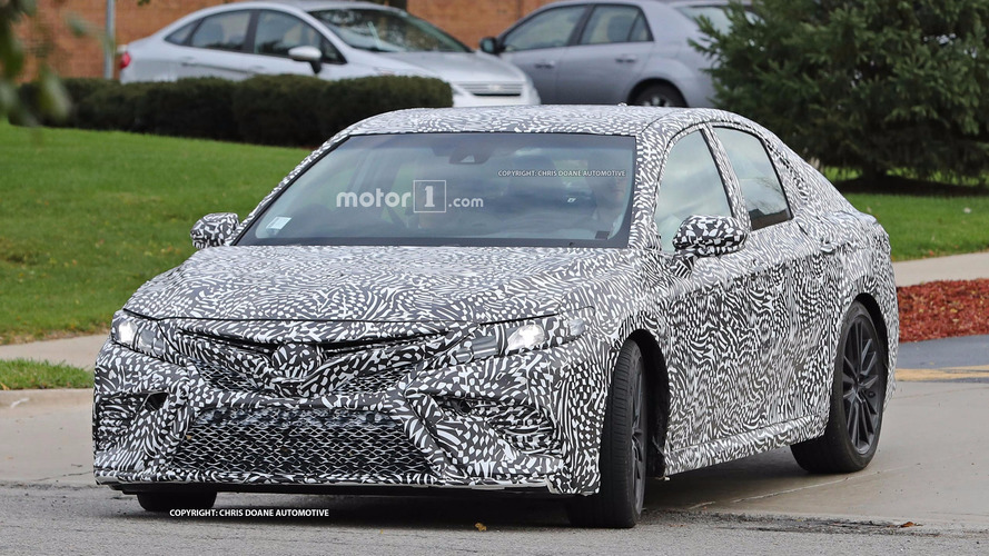 2018 Toyota Camry spied looking fierce, maybe a performance model?
