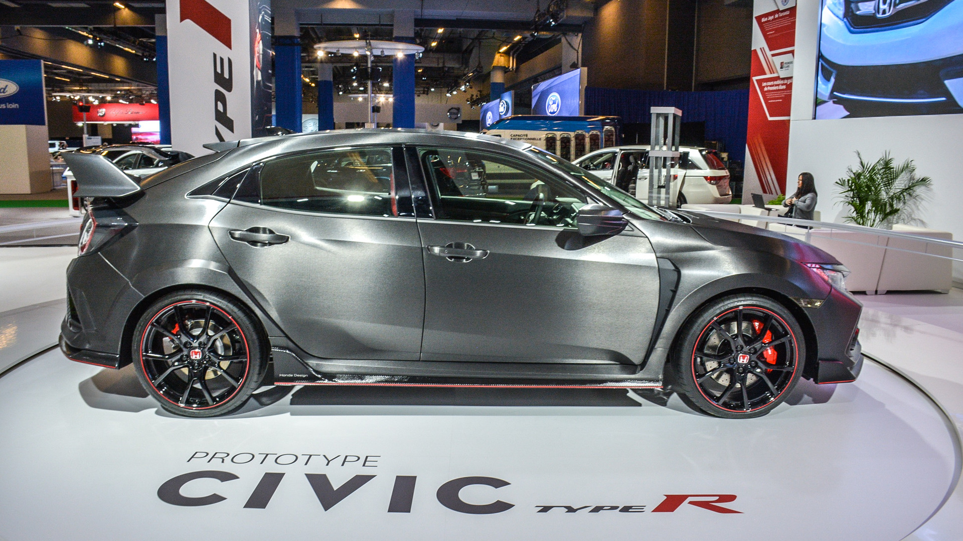 honda civic type r prototype interior revealed in montreal honda civic type r prototype interior