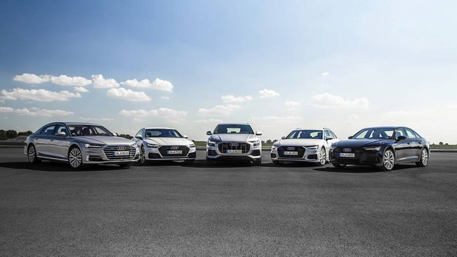 Audi's Newest Big Cars Get Together For Family Portrait