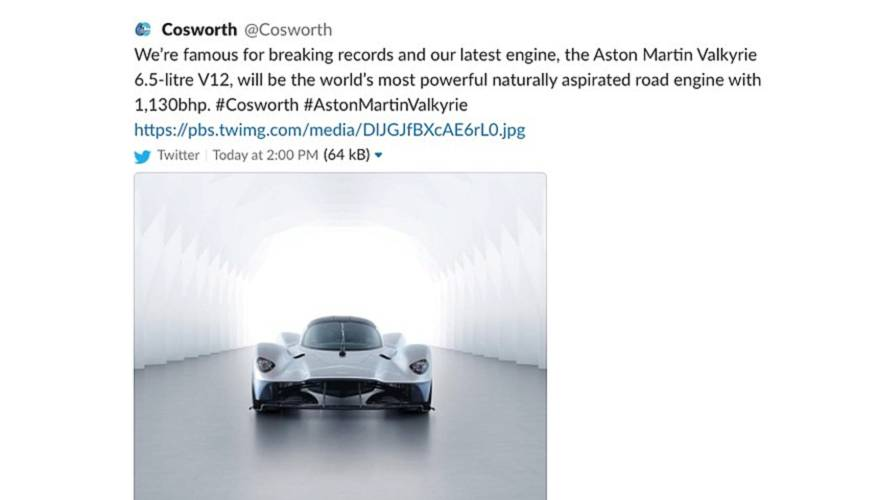 Aston Martin Valkyrie power output