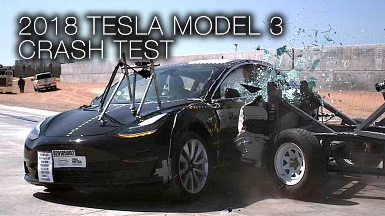 Tesla Model 3 Crash