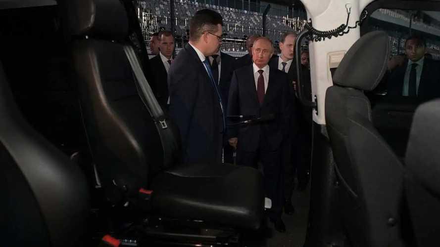 Vladimir Putin Tests Aurus Senat At Sochi