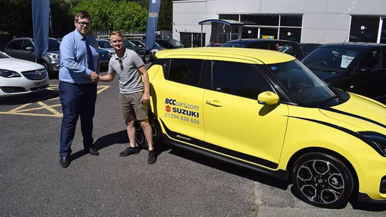Actor Mikey North buys Suzuki Swift Sport