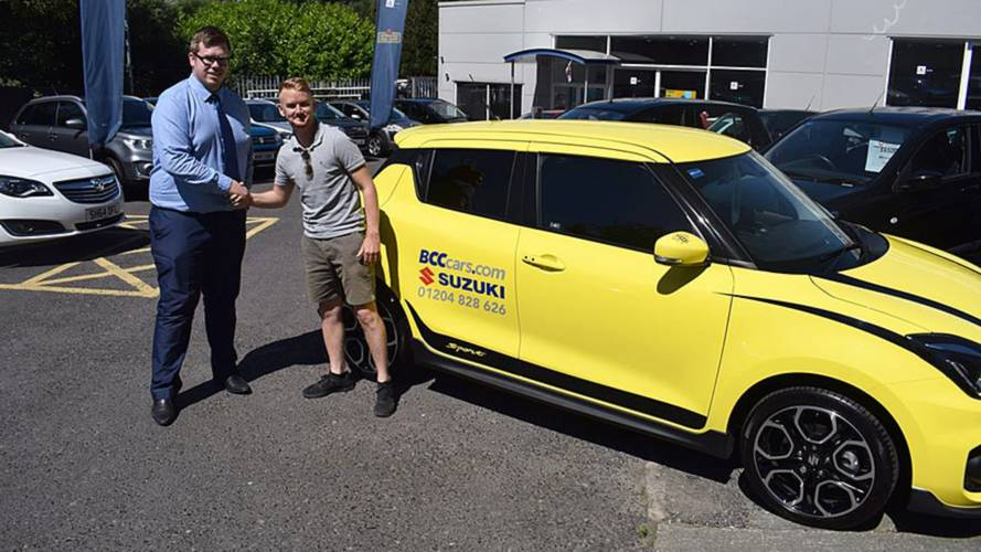 Corrie actor celebrates passing his test by buying a... Suzuki