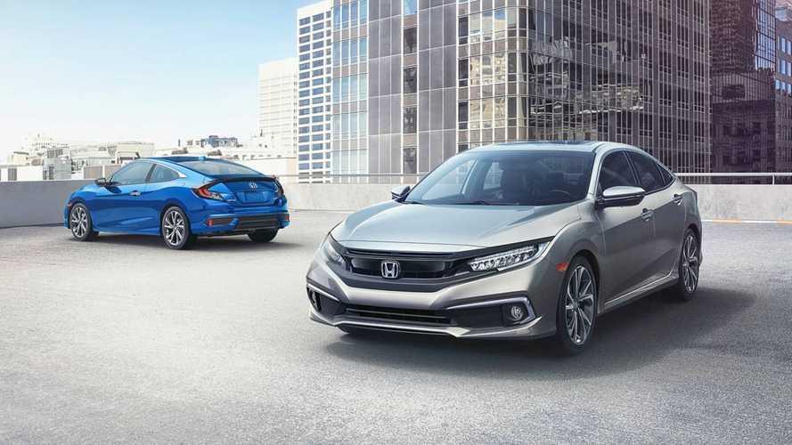 Honda Civic 2019 reestilizado é apresentado nos EUA