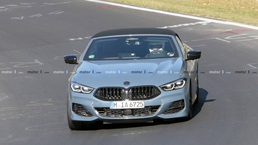 2019 BMW 8 Series Convertible spy photos from Nurburgring