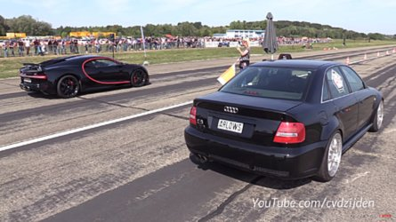 1,300-HP Audi Races Bugatti Chiron In David Vs. Goliath Showdown