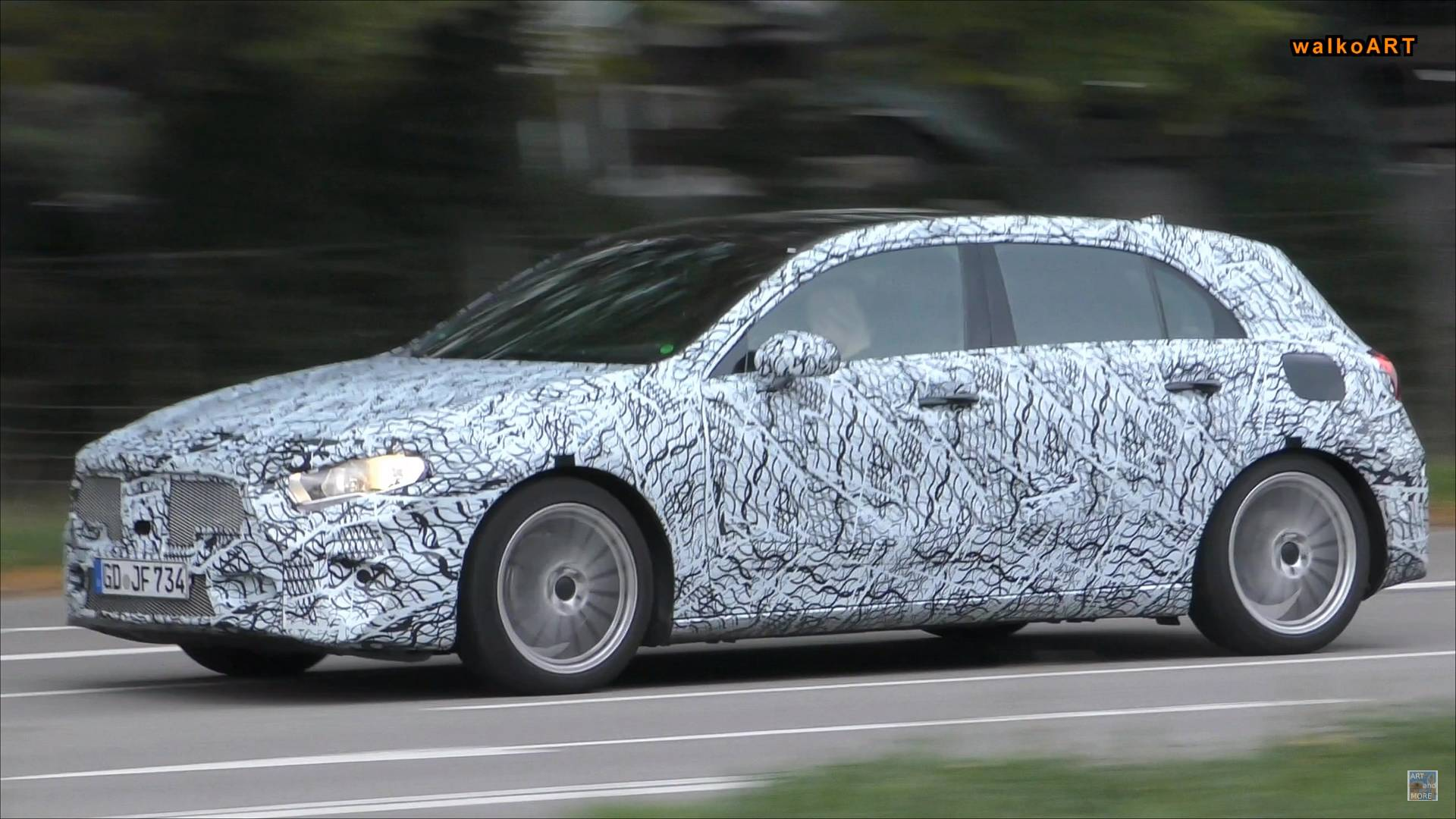 Mercedes Benz A-Class Spied With No Exhaust
