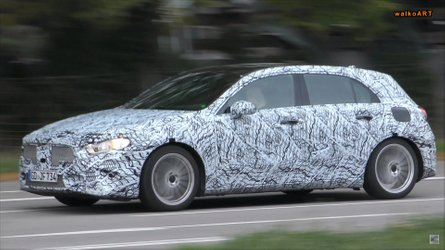 Silent Mercedes-Benz A-Class Spied, Could Be EQA Test Mule