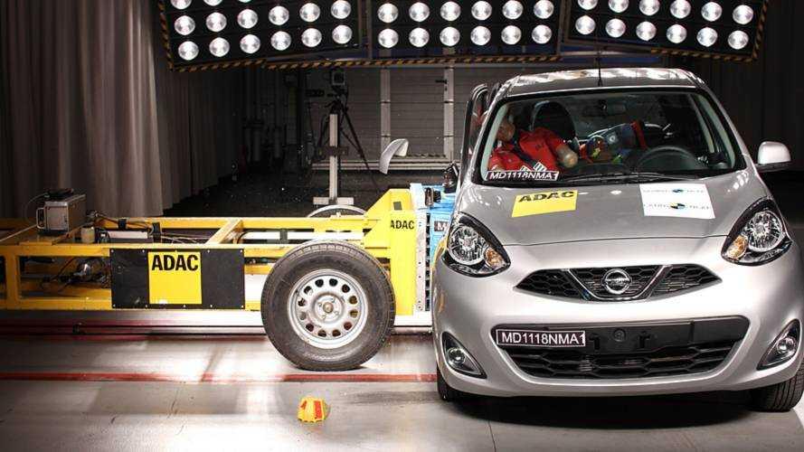 Nissan March recebe uma estrela em teste de colisão do Latin NCAP