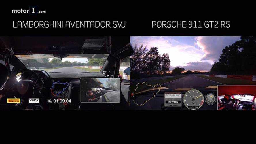 VIDÉO - Lamborghini Aventador SVJ vs Porsche 911 GT2 RS