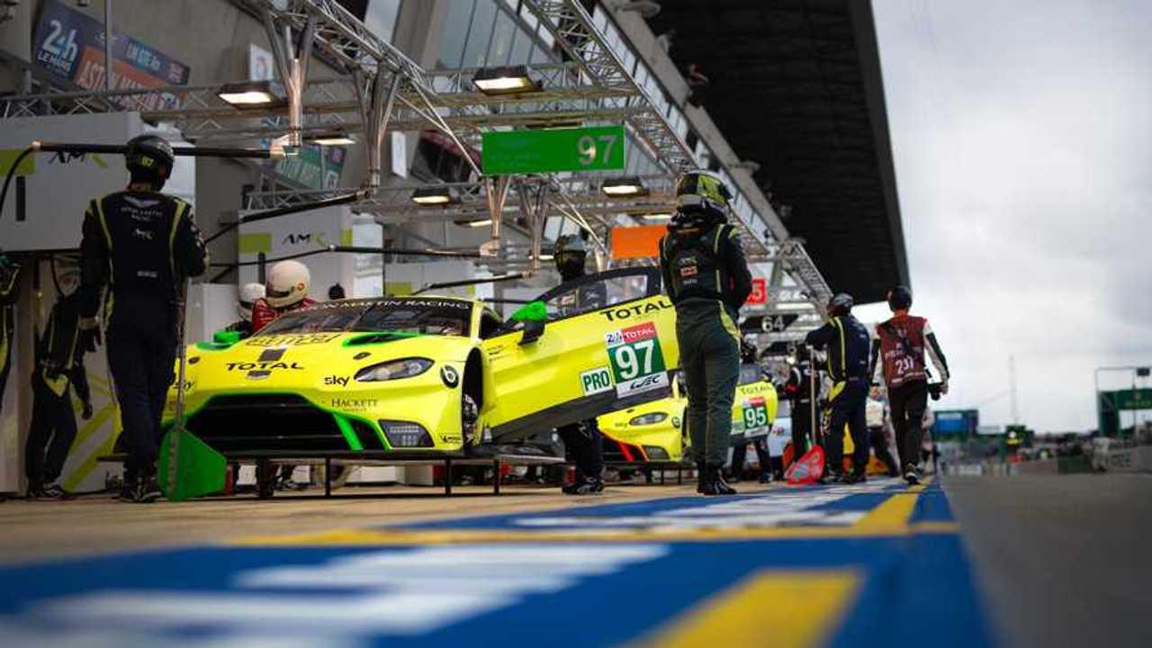 Aston Martin Vantage GTE at Silverstone Circuit