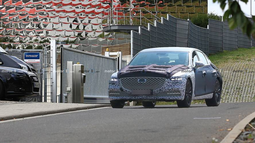 New Genesis G80 spy photos