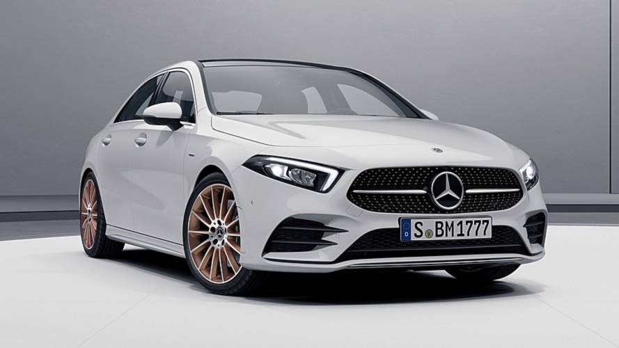 2019 Mercedes A-Class Sedan Edition 1 Shows Off Copper Accents