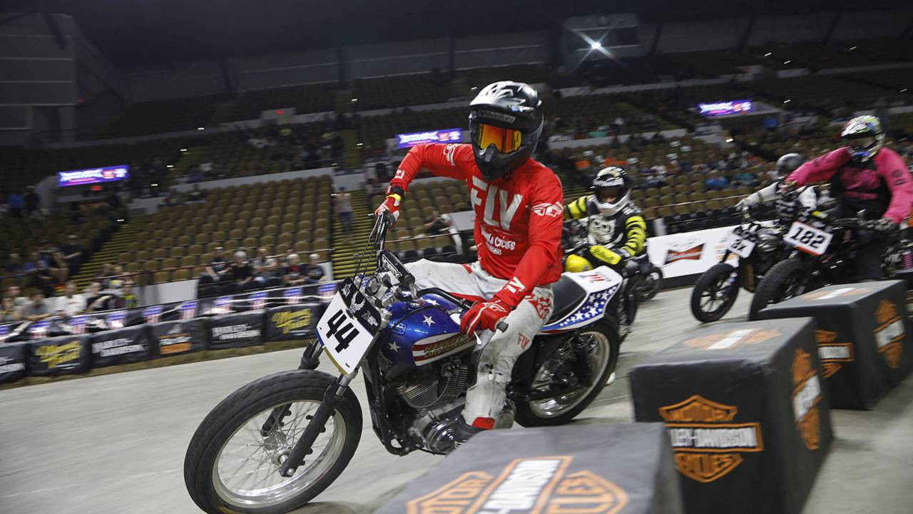 Here's a new #FollowFriday for you: Flat out Friday at the Panther Area indoor flat track course.