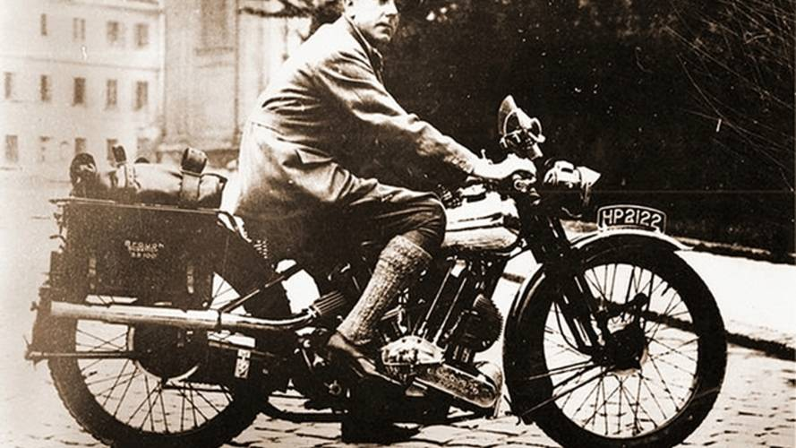 George Brough in action on his own Brough Superior
