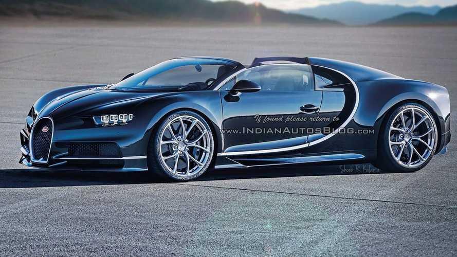 Bugatti Chiron roadster speculative renders
