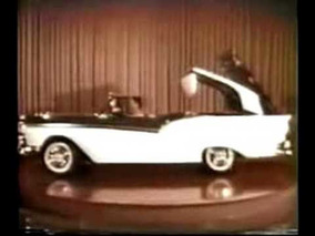 1957 Extremely Rare Ford Color Ad: The Fairlane Retractable