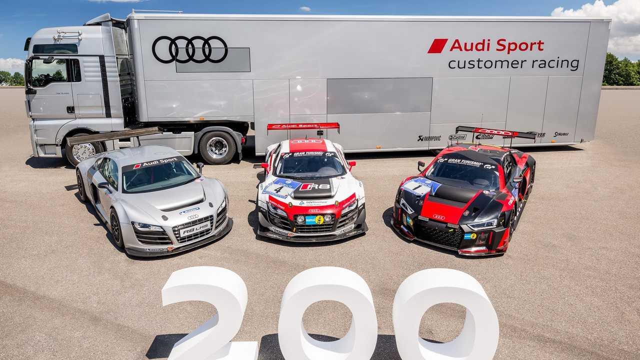 Deux-centième Audi R8 LMS produite