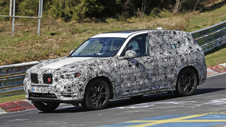 New BMW X3 spied on the Nürburgring