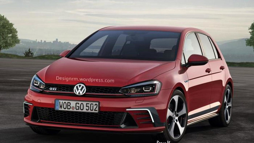Volkswagen Golf and Golf GTI facelift rendered ahead of late 2016 launch